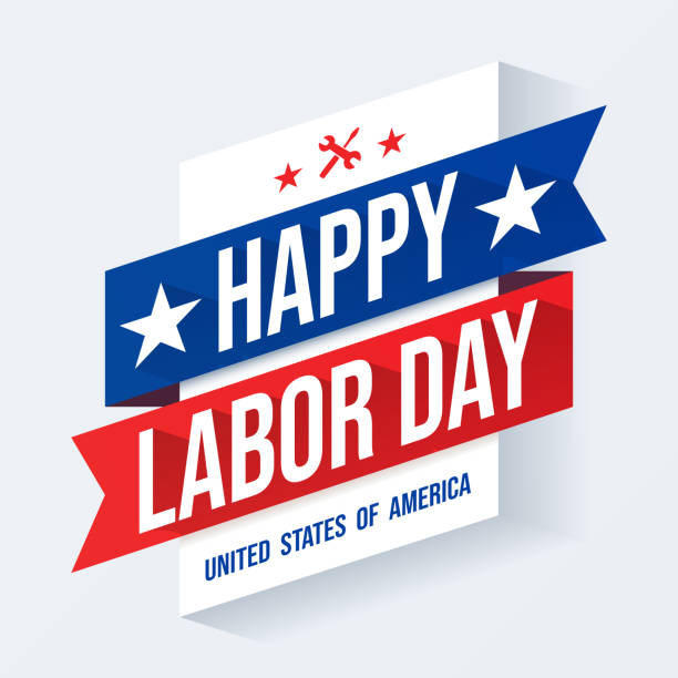 usa labor day background - labor day stock illustrations, clip art, cartoons, & icons