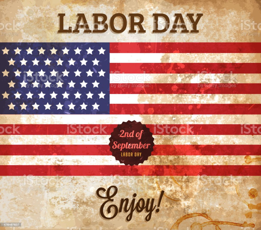 Labor Day Background royalty-free labor day background stock vector art & more images of american flag