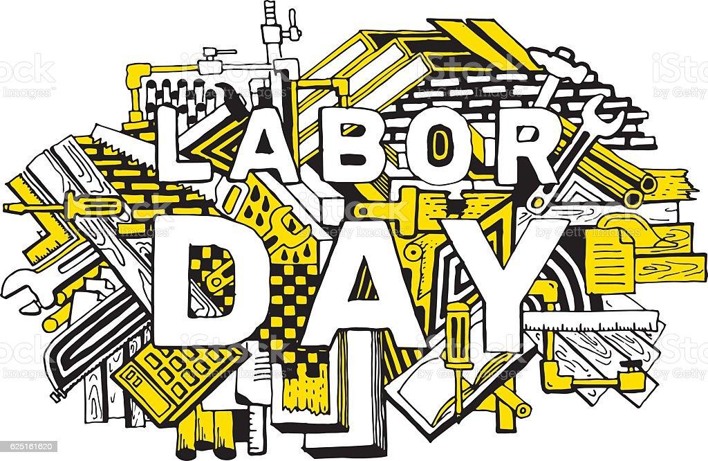 Fondo de día del trabajo - ilustración de arte vectorial