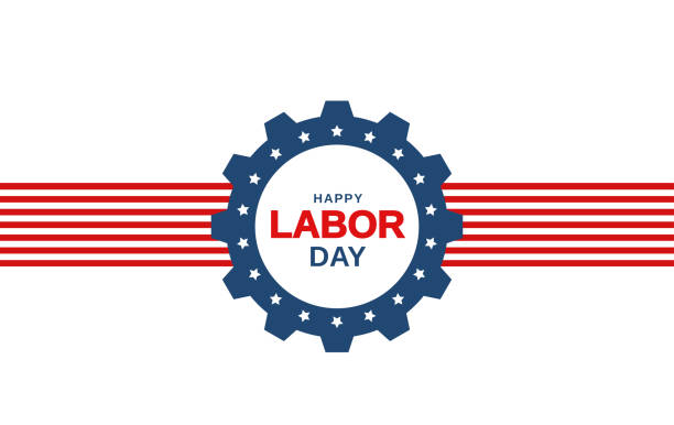 Labor Day banner on white background. Vector Labor Day banner on white background. Vector illustration. EPS10 labor day stock illustrations