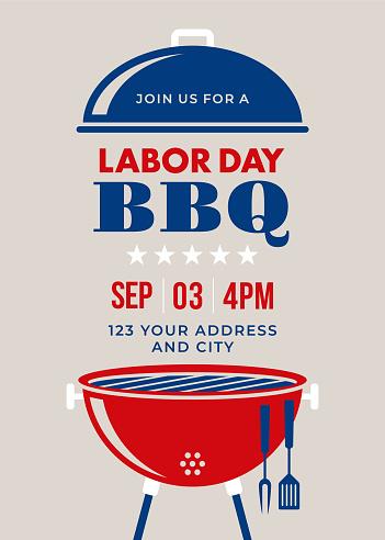 Labor Day BBQ Party Invitation