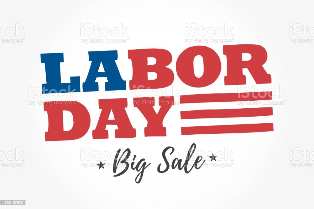Labor Day Big Sale logo. vector art illustration