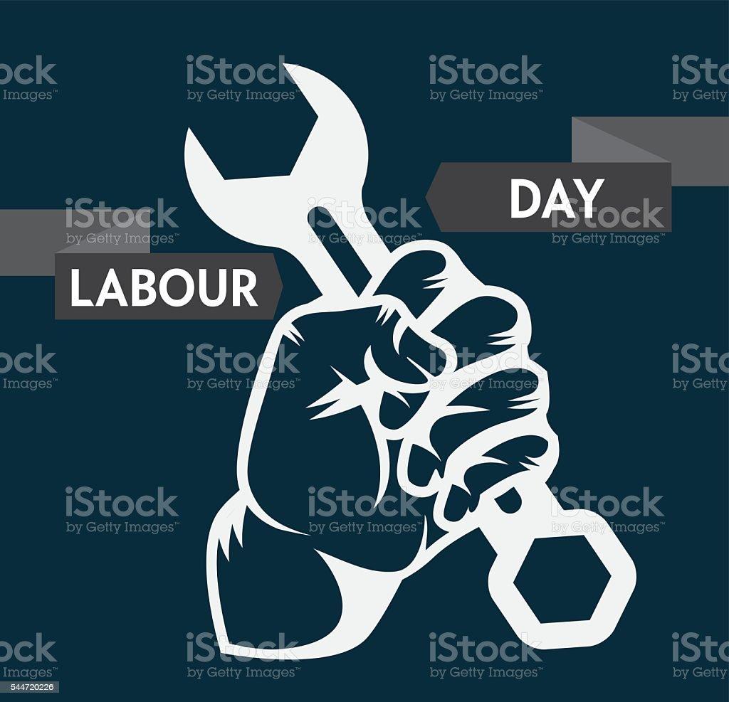 Dzień Pracy święto Plakat Projekt Koncepcji Stockowe