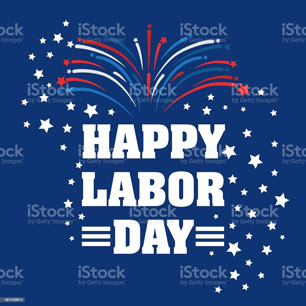 Labor day design. vector art illustration