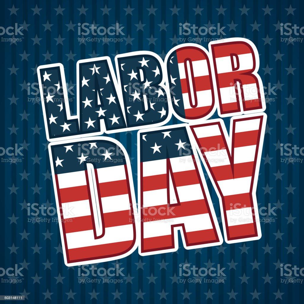 Labor day design royalty-free stock vector art
