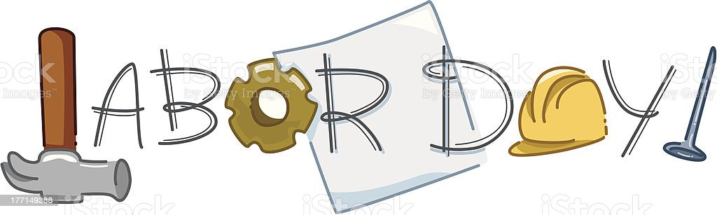 Labor Day Emblem royalty-free stock vector art