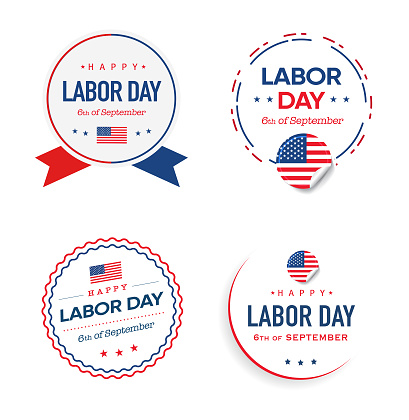 Labor Day Logo and labels