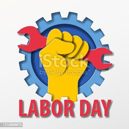 istock Labor Day Paper Craft 1215889975