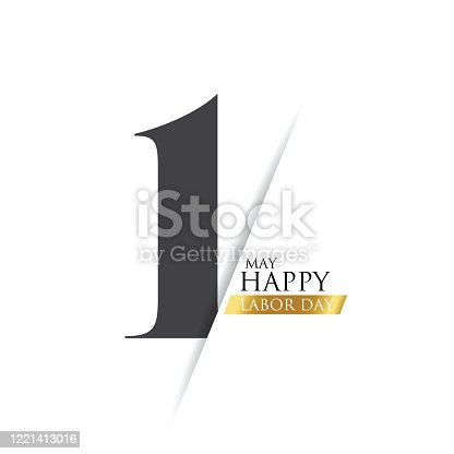 istock Labor Day Poster. International labour day. Labour day vector illustration stock illustration 1221413016