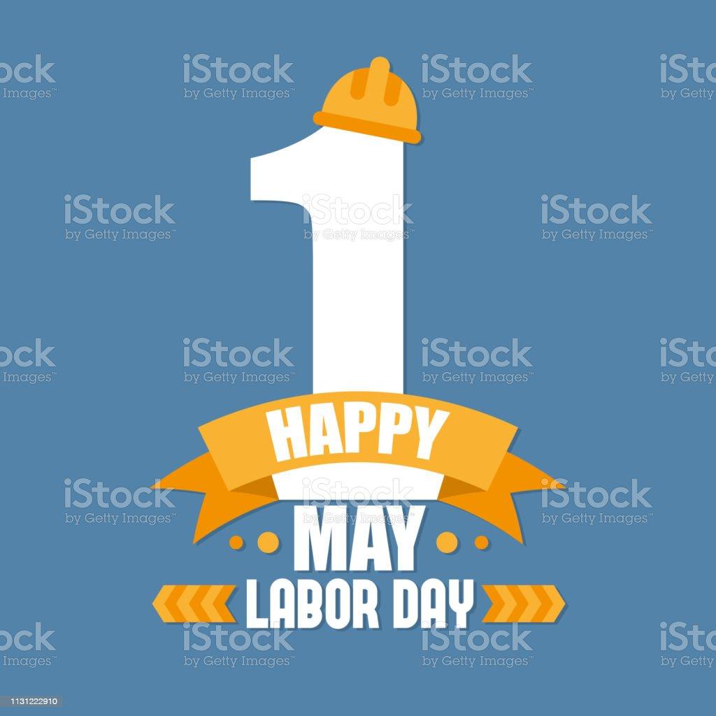 Cartel del día del trabajo. Día Internacional del trabajo. Ilustración vectorial del día del trabajo - ilustración de arte vectorial