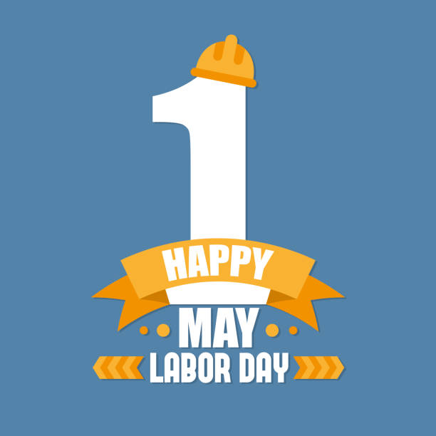 labor day poster. international labour day. labour day vector  illustration - may day stock illustrations, clip art, cartoons, & icons