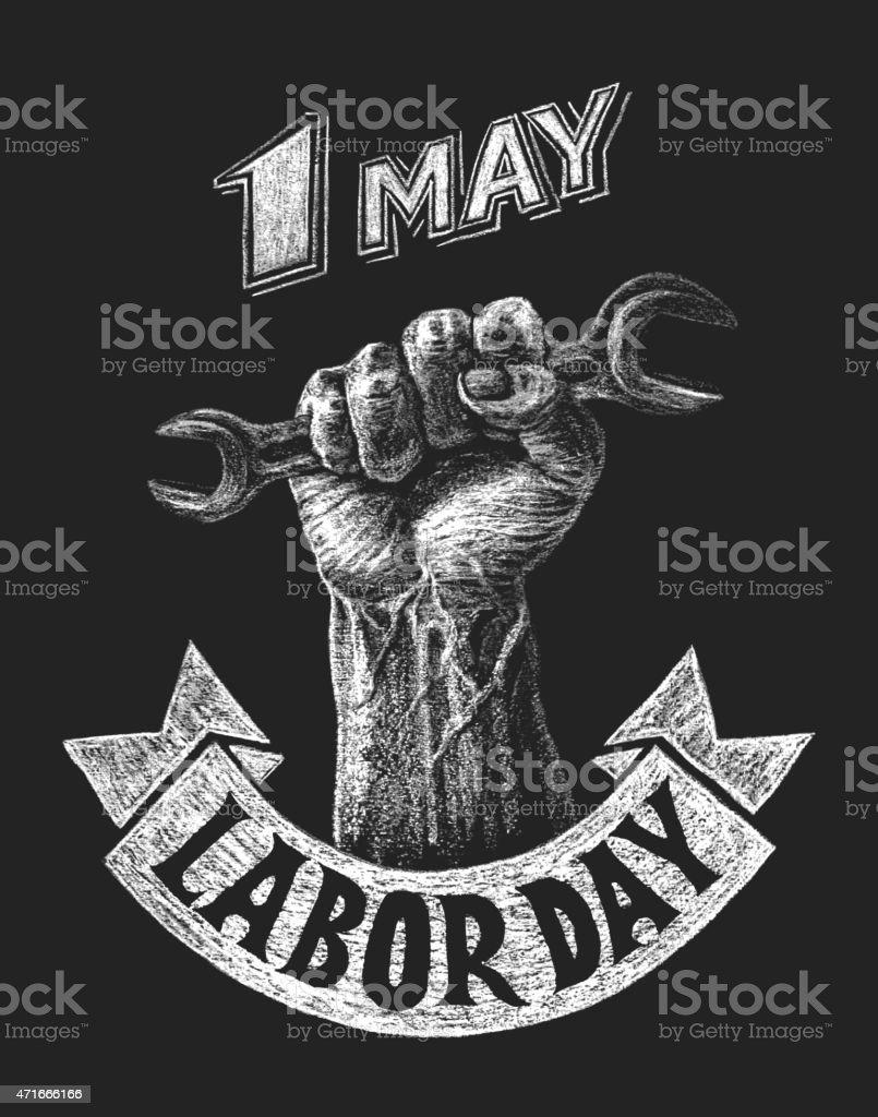 El día del trabajador póster - ilustración de arte vectorial