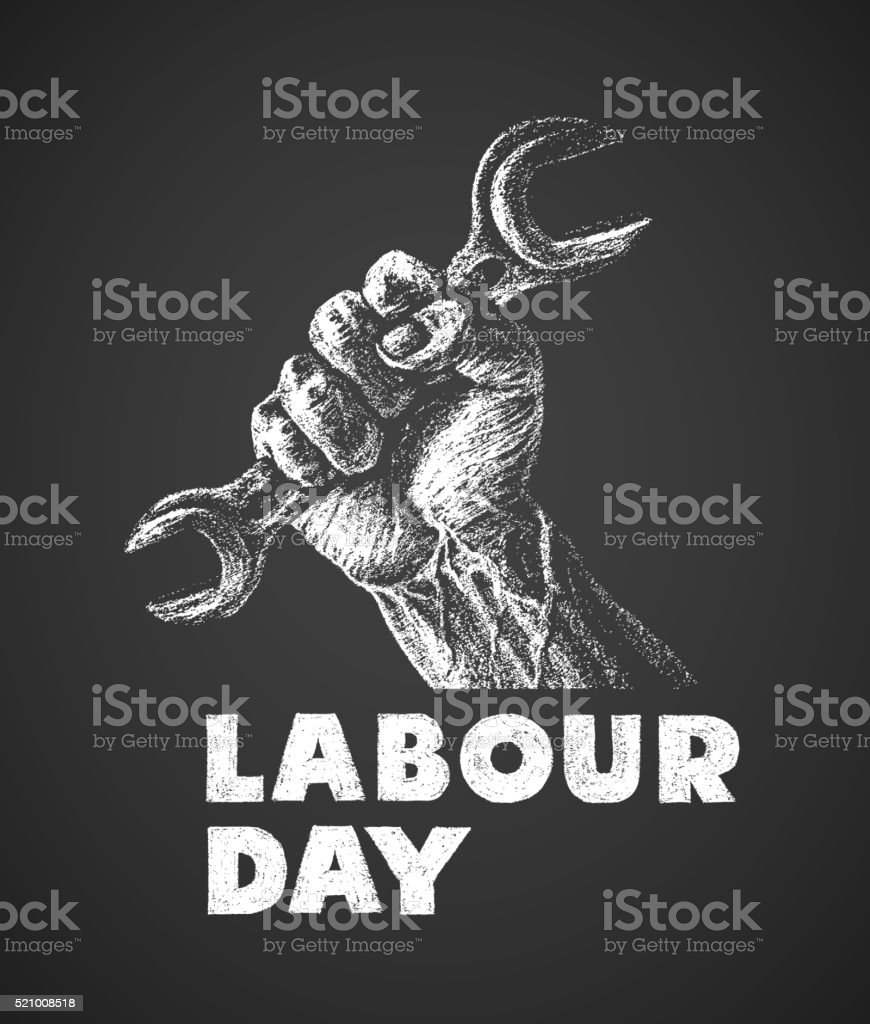 Labor Day poster vector art illustration