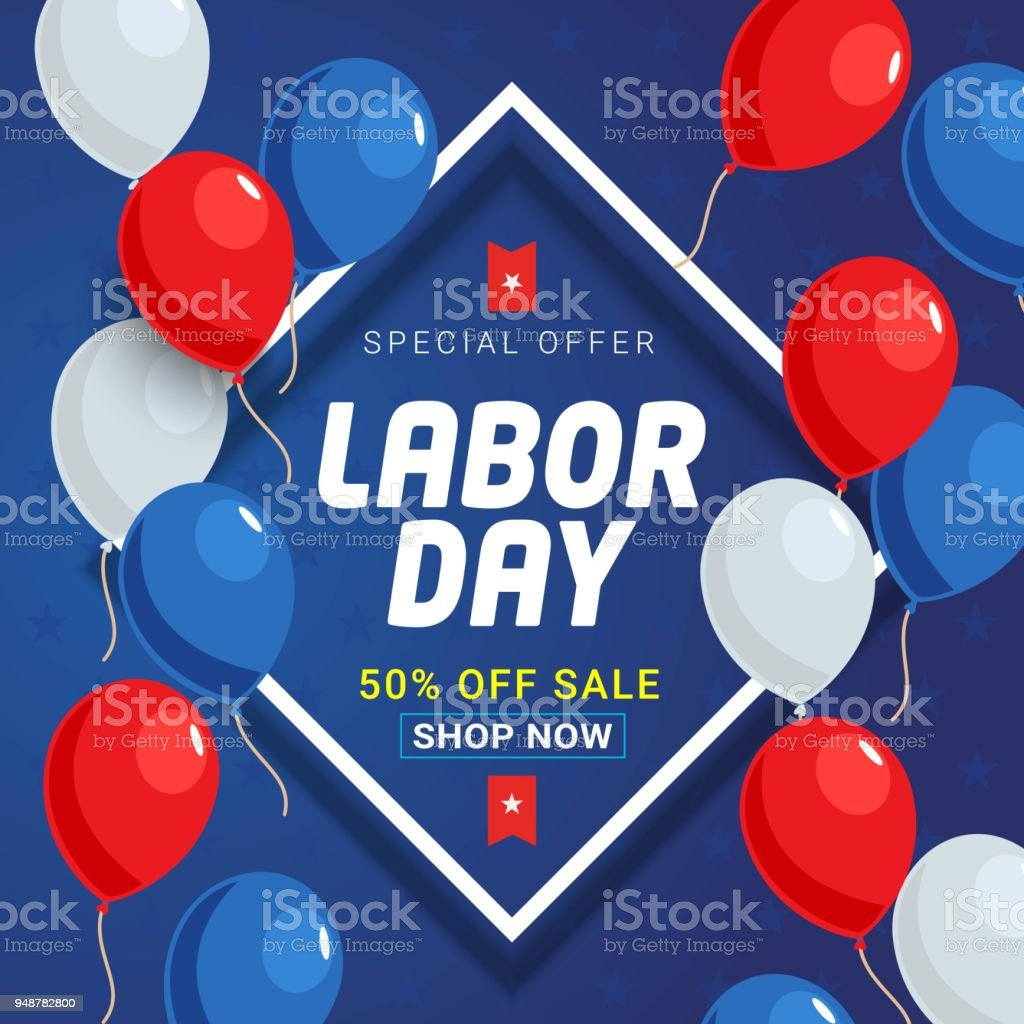 Labor Day Sale Banner Background Template