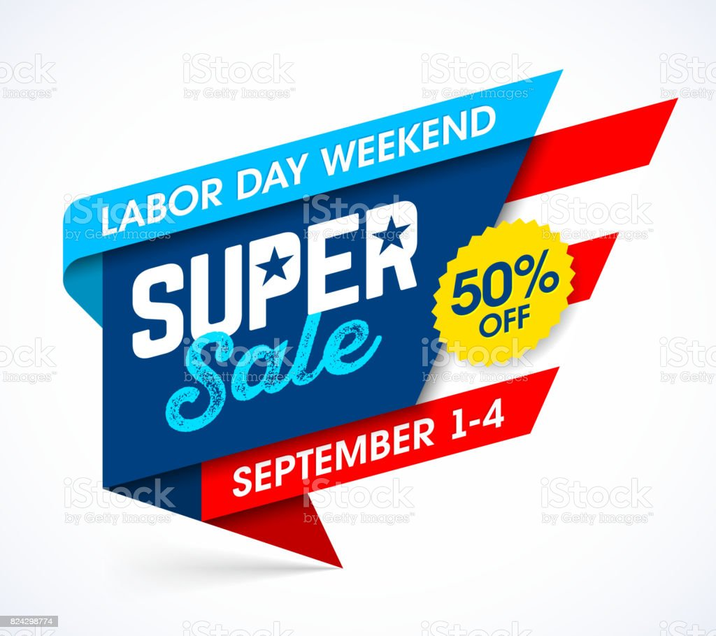 Labor Day Sale banner vector art illustration