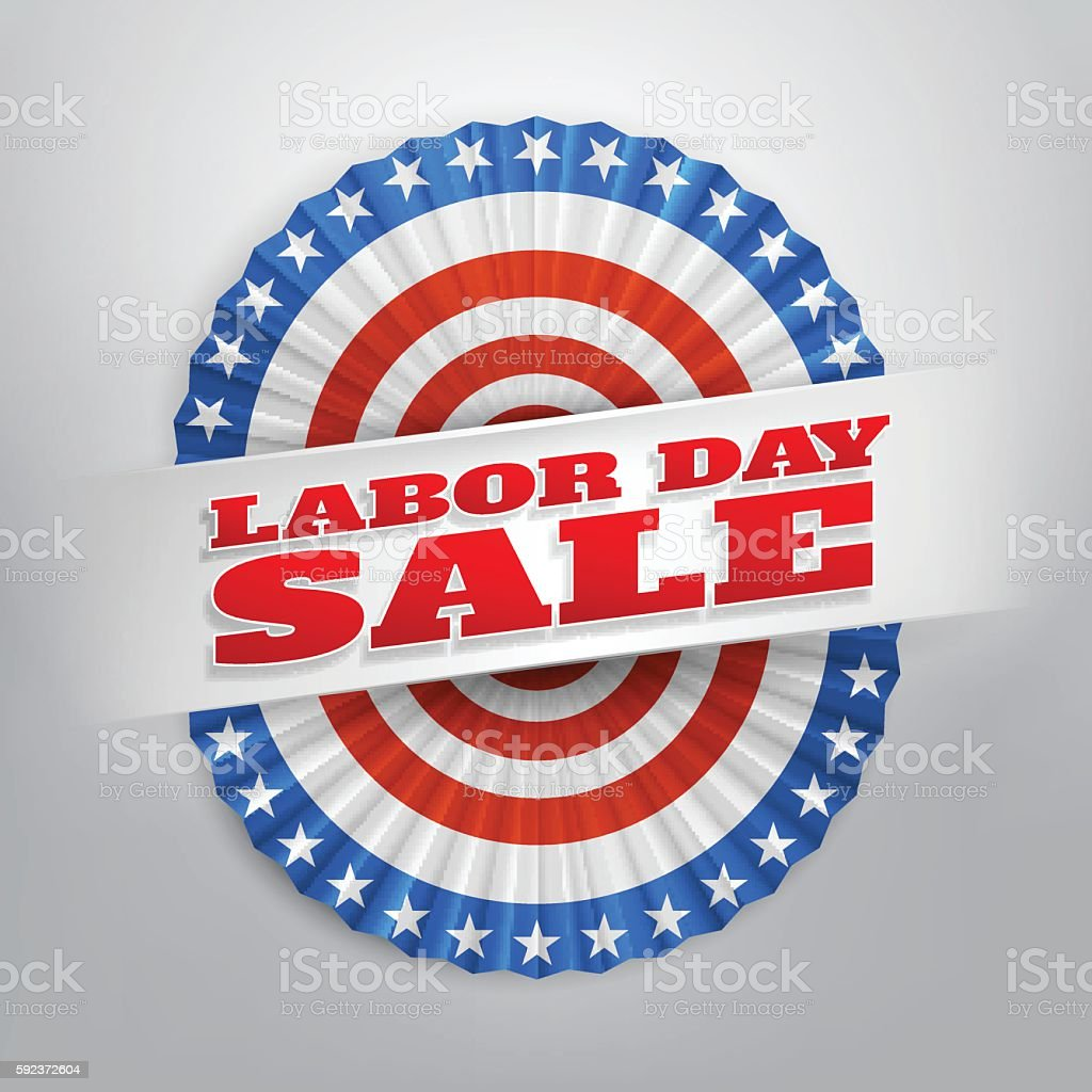 Labor Day Sale Banner With America Flags Buntingvector