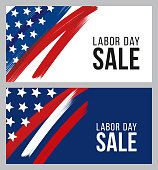 Labor Day sale design for advertising, banners, leaflets and flyers