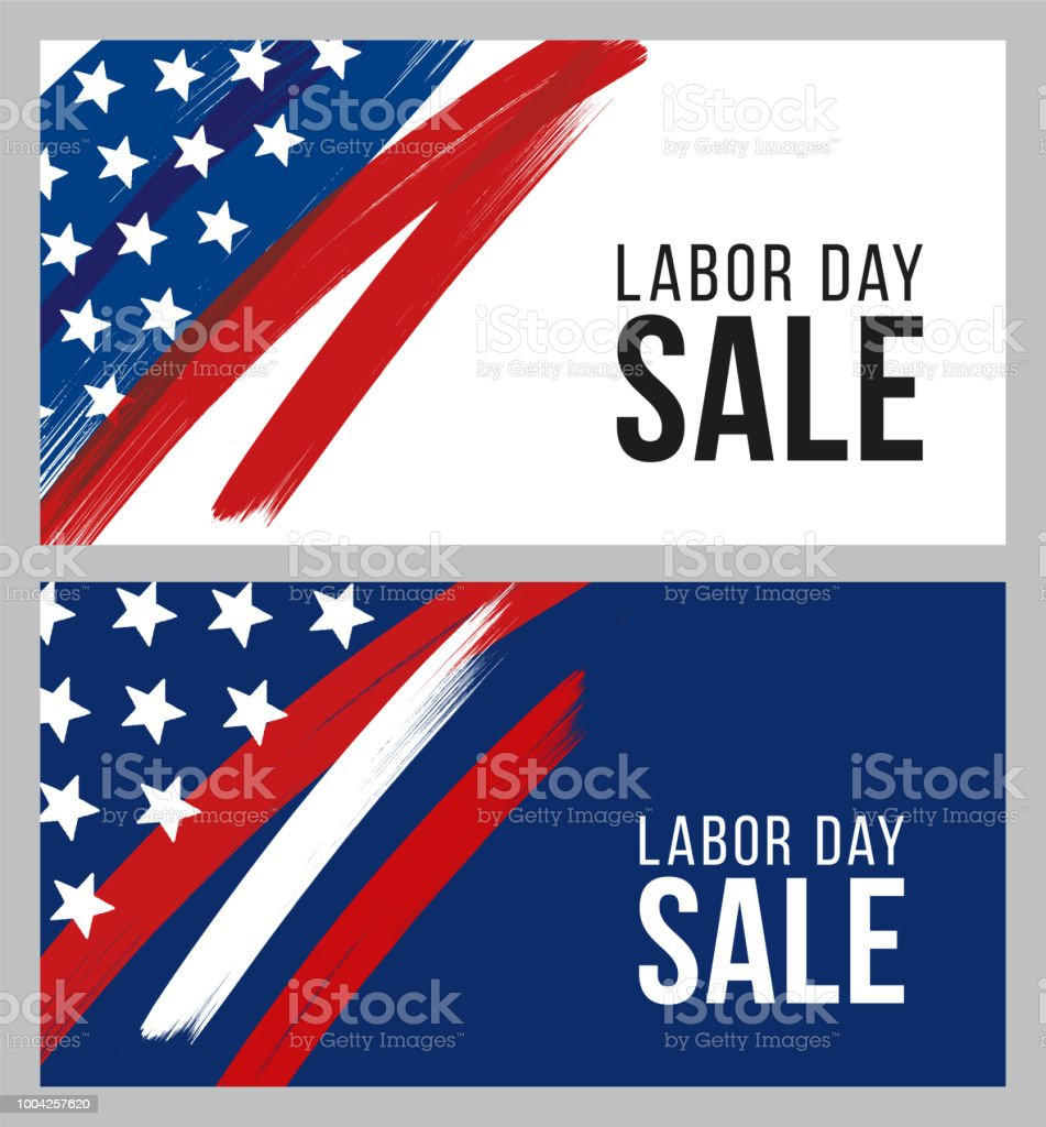 Labor Day sale design for advertising, banners, leaflets and flyers vector art illustration