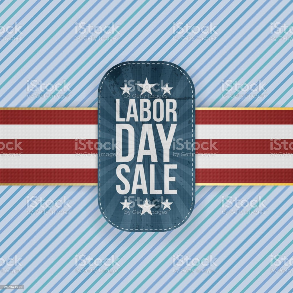 Labor Day Sale patriotic Emblem ilustração de labor day sale patriotic emblem e mais banco de imagens de azul royalty-free