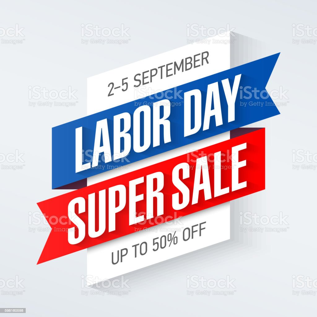 Labor Day Super Sale banner vector art illustration