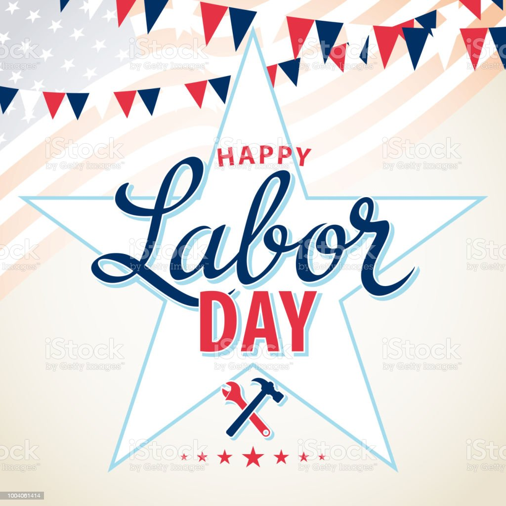 USA Labor Day vector art illustration