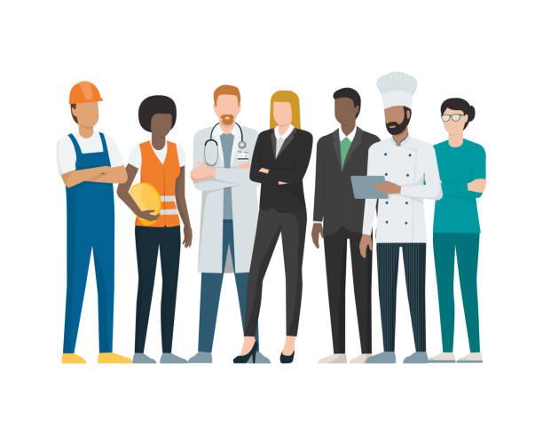 illustrazioni stock, clip art, cartoni animati e icone di tendenza di labor day - professione