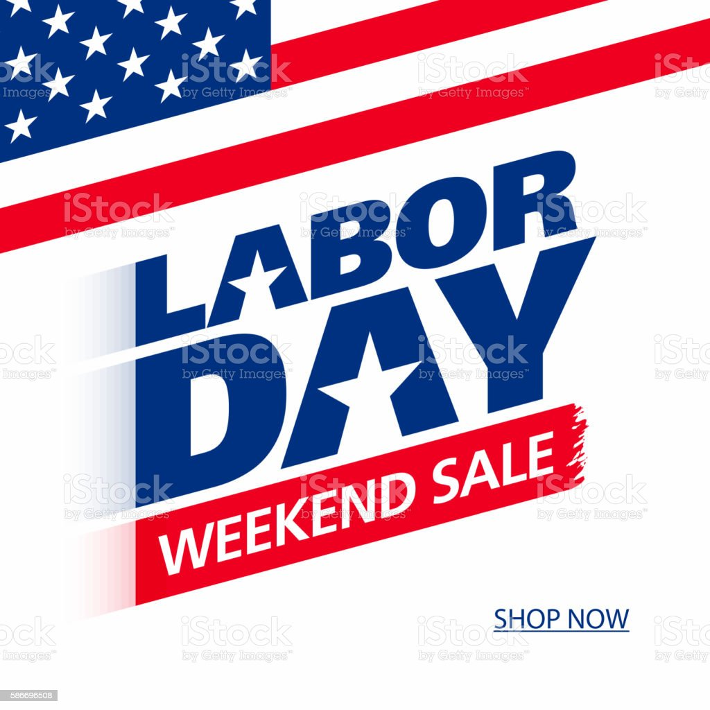 Labor Day Sale: Labor Day Weekend Sale Advertising Banner Design Stock