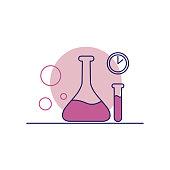 Laboratory beaker line icon. Editable Stroke