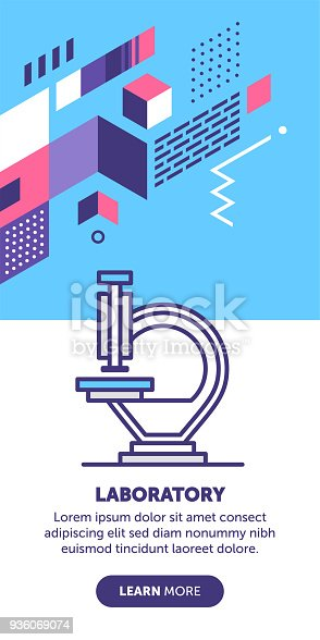 Laboratory Equipment Banner Stock Vector Art More Images Of