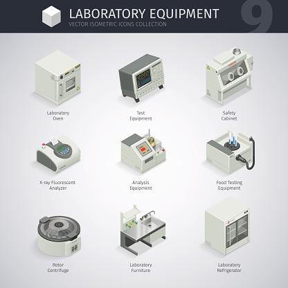 Laboratory Equipment Icons