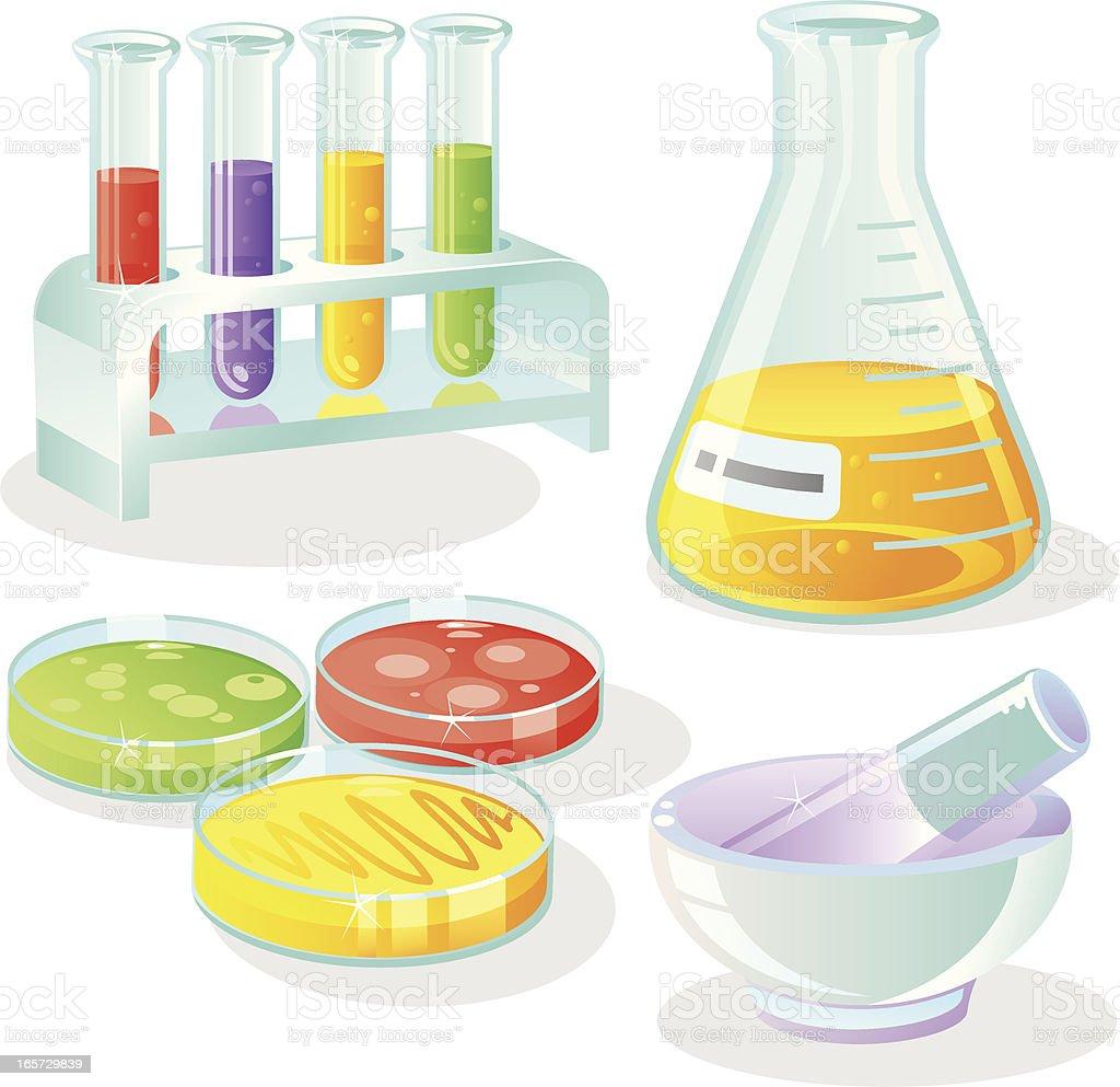Laboratory Equipment Set royalty-free stock vector art