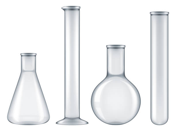 Laboratory flask set. Laboratory flask set. Vector illustration. beaker stock illustrations