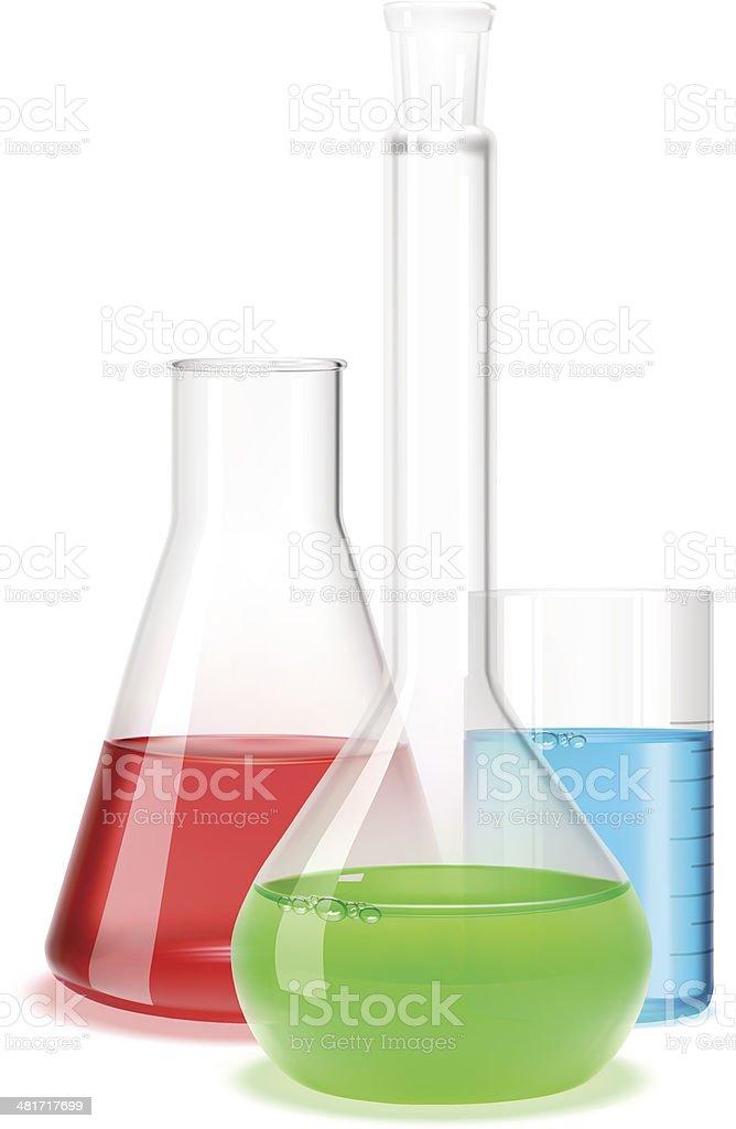Laboratory flask vector art illustration