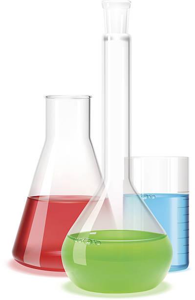 Laboratory flask Vector illustration of three different laboratory flasks. laboratory flask stock illustrations