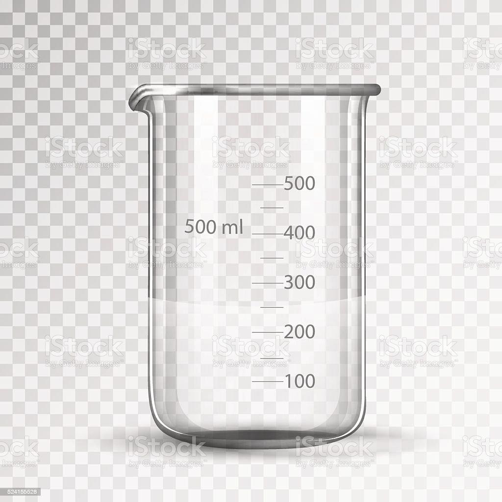 laboratory glassware or beaker vector art illustration
