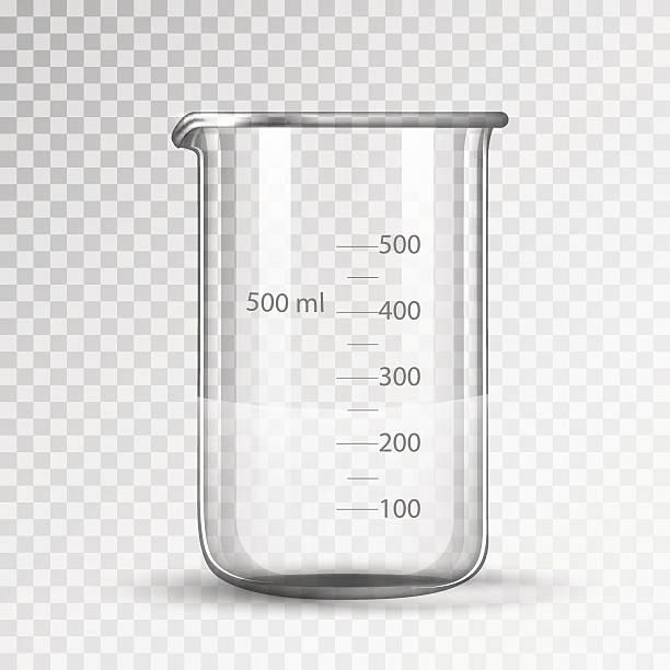 laborglas oder becherglas - becherglas stock-grafiken, -clipart, -cartoons und -symbole