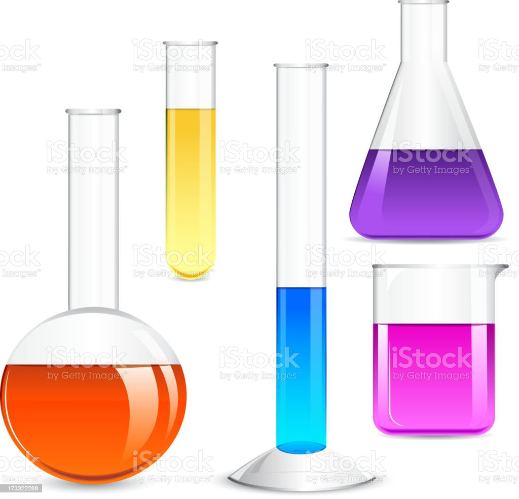 Laboratory Glassware vector art illustration