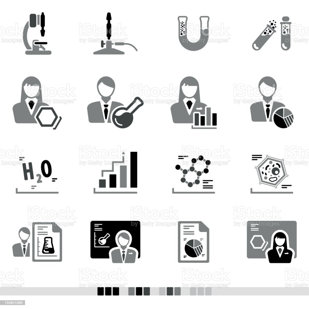 Laboratory | Grey Icons royalty-free stock vector art