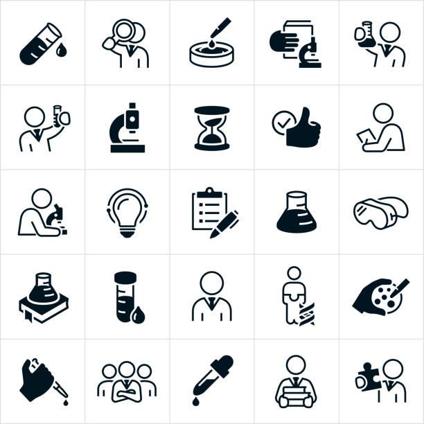 ilustrações de stock, clip art, desenhos animados e ícones de laboratory icons - scientist