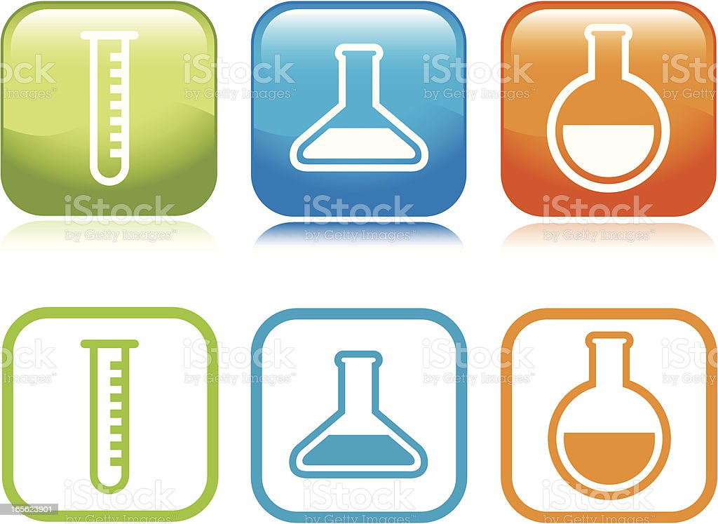 Laboratory Icons royalty-free stock vector art