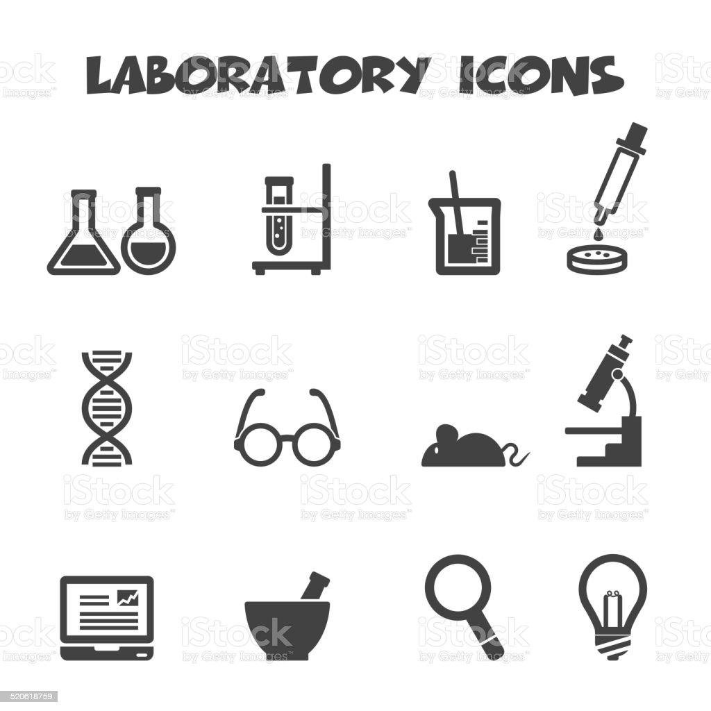 laboratory icons vector art illustration
