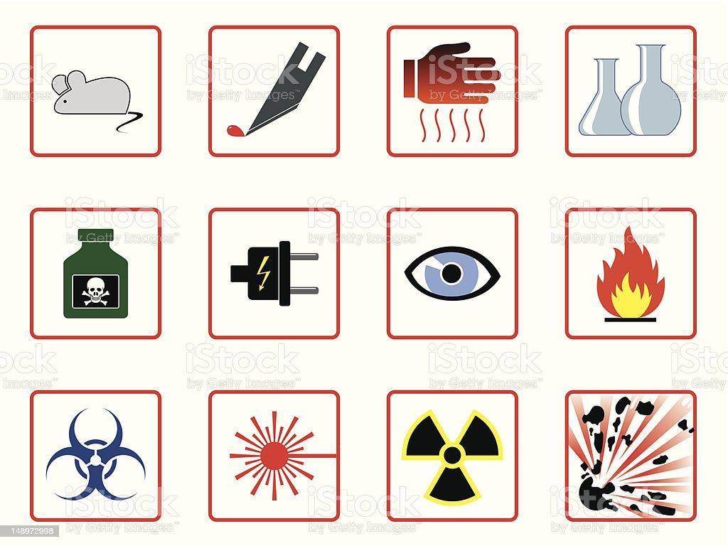 Laboratory safety symbols stock vector art more images of animal laboratory safety symbols royalty free laboratory safety symbols stock vector art amp more images buycottarizona