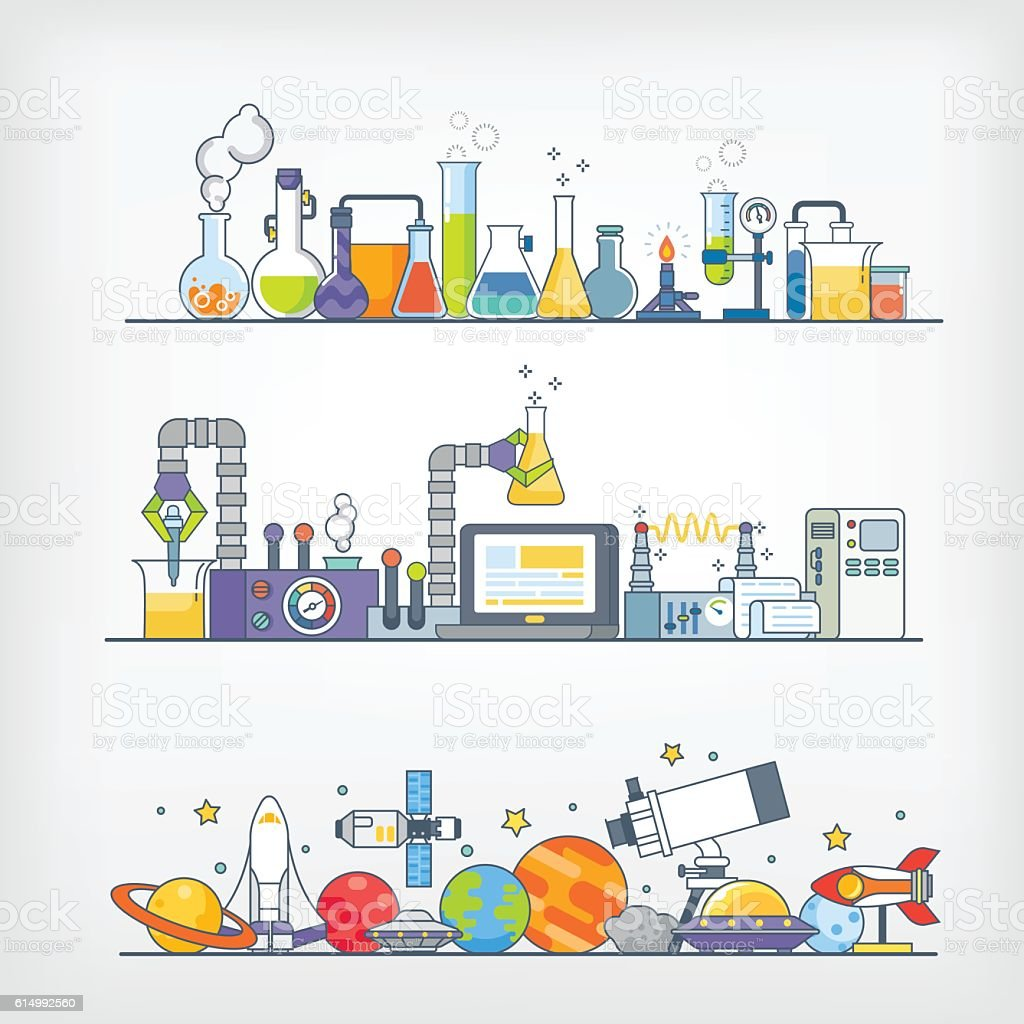 Laboratory /Science Room vector art illustration