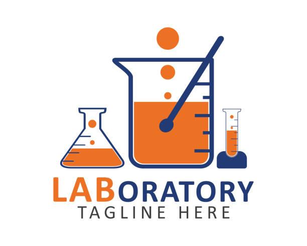 Laboratory symbol. Editable vector EPS. Laboratory symbol. Editable vector EPS. beaker stock illustrations