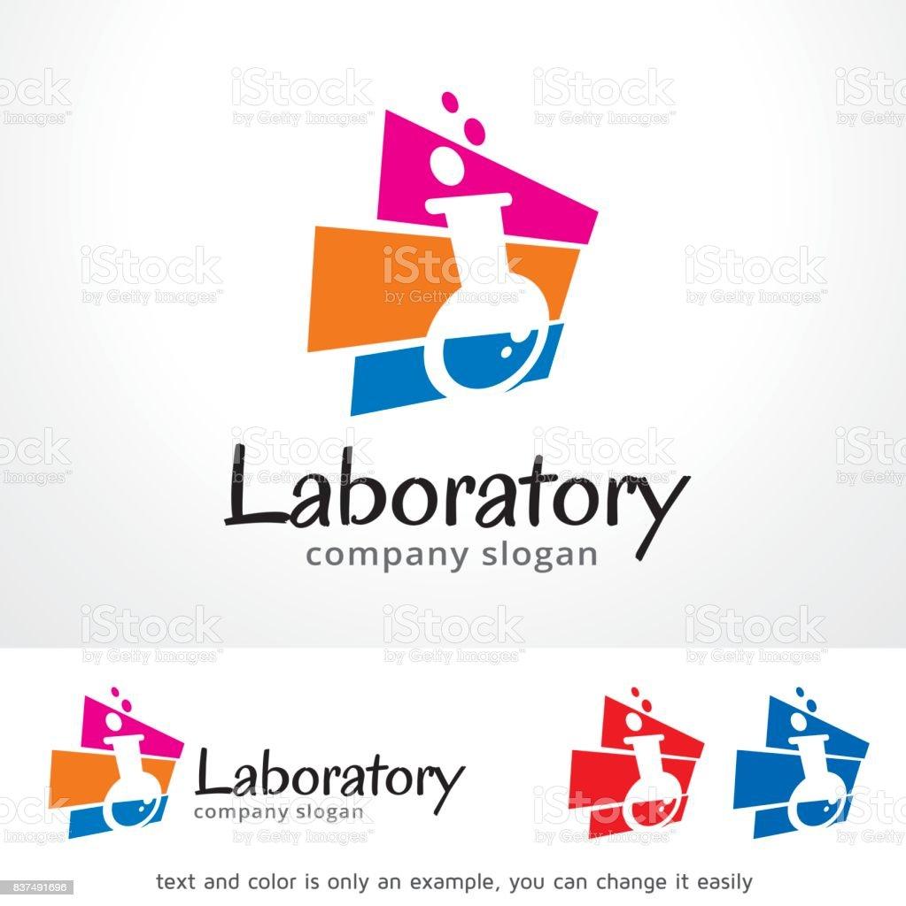 Ilustración de Plantilla Diseño Vector De Laboratorio Símbolo ...