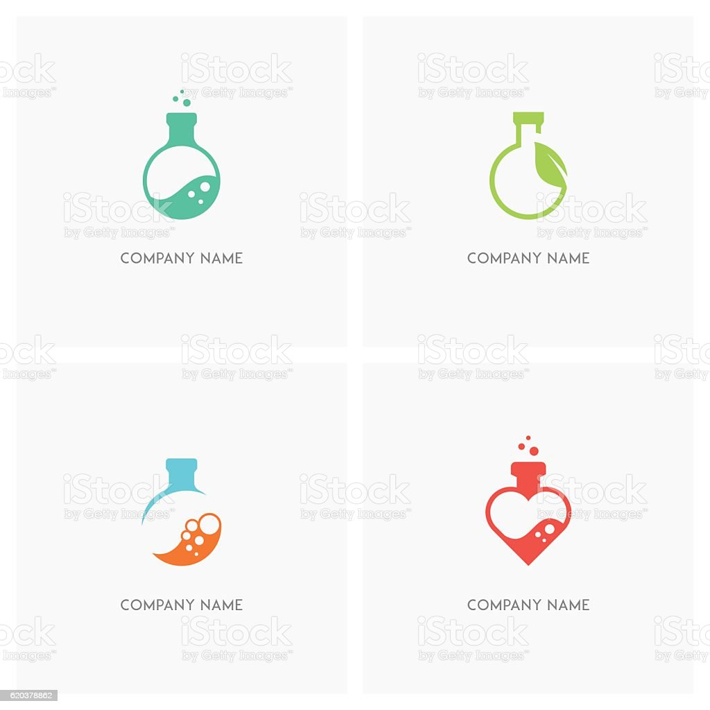 Laboratory test tube design element set laboratory test tube design element set - arte vetorial de stock e mais imagens de amor royalty-free