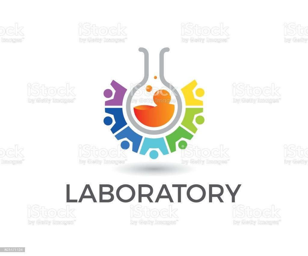 Laboratory vector icon vector art illustration