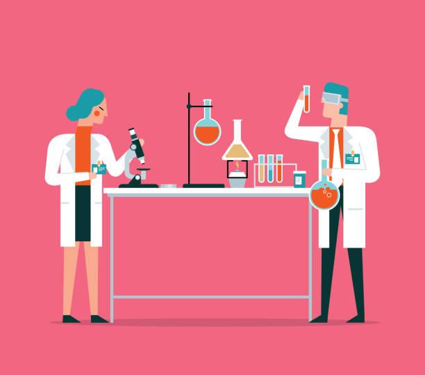 ilustrações de stock, clip art, desenhos animados e ícones de laboratory - scientist