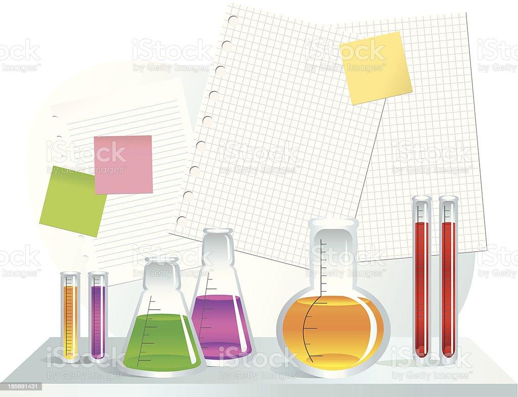 Laboratory vector art illustration