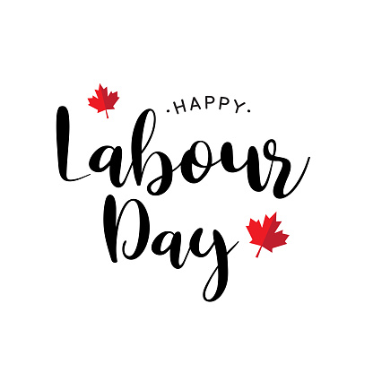 Labour Day Canada lettering. Vector